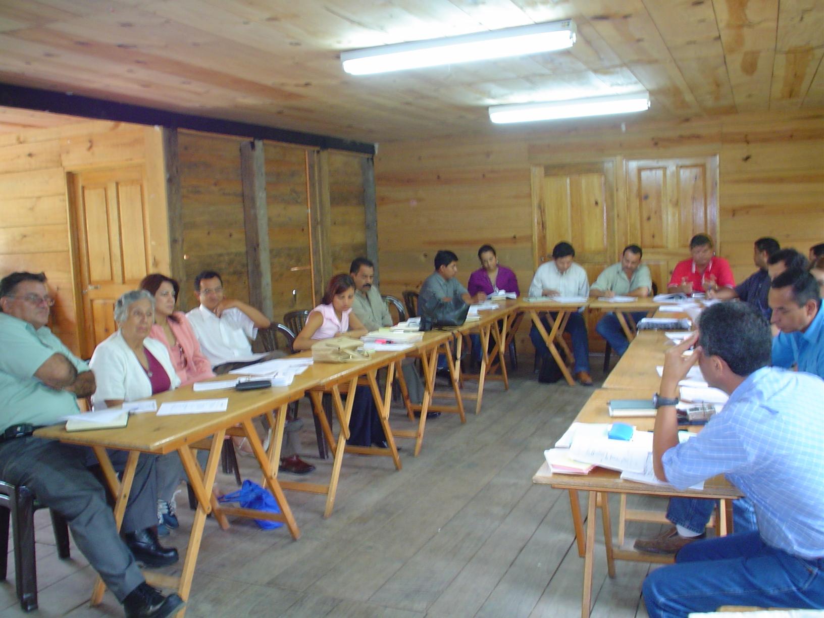 Foto de sesión de planeación participativa