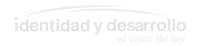 logo identidad y desarrollo gris claro