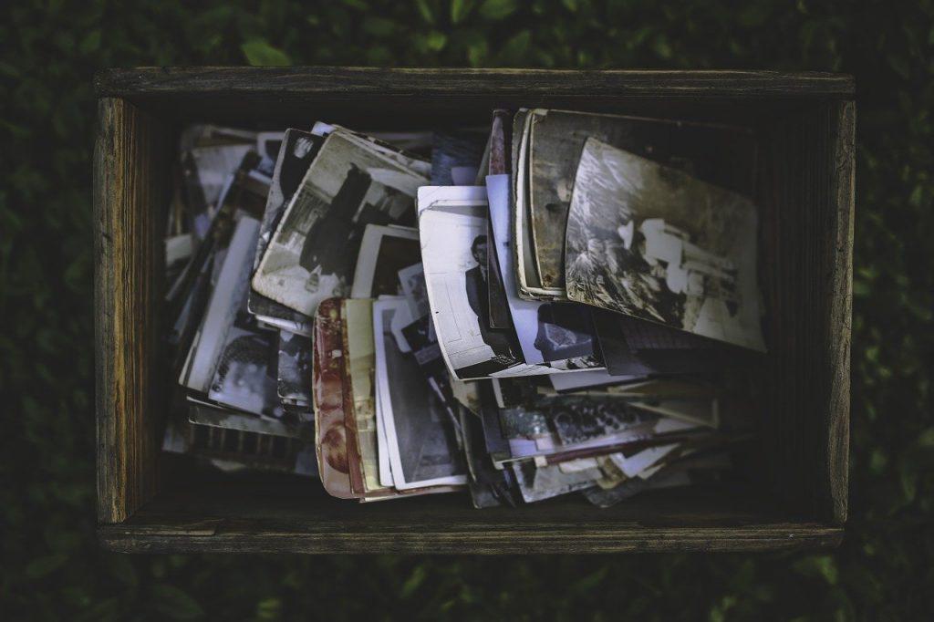 Fotos viejas para recordar un viaje turístico