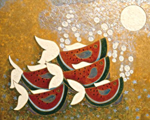peces sandía y luna
